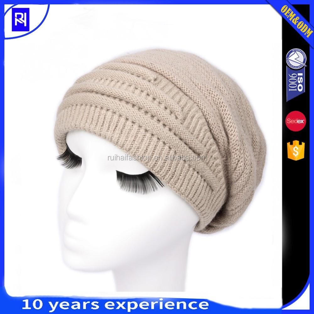 Mujeres Invierno Caliente knit lana sombrero esquí gorras con visera ...