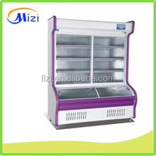 Fashion model refrigerated showcase glass display cabinet