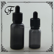 trade assurance 2015 years 15 ml translucent black glass dropper bottle with dropper for eliquid