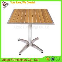 (SP-AT327) Wholesale custom teak wood square top outdoor table vintage