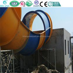 Cheap inflatable aqua park slides, twister slides for commercial
