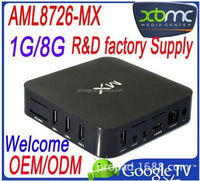 Hot Amlogic 8726 MX , 4K*2K, XBMC, 1G+8G smart android 4.2 payment accept MX dual core android 4.2 tv box