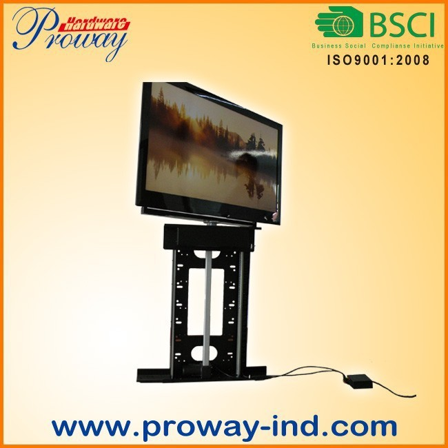 Motorized tv lift with remote control 360 degree swivel for Motorized tv lift with swivel