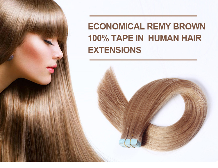 Double Drawn 30 Inch Brazilian Remy Invisible Tape Hair Extensions