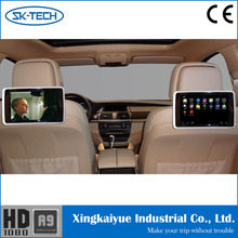 "Portable HD 9"" LCD Car Headrest Monitor DVD Player Games FM IR DVD SD USB Black"