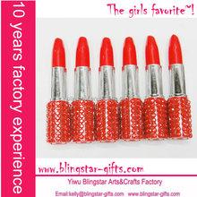 red color lipstick ballpoint pen