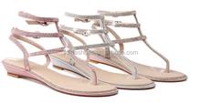 New fashion Ladies flip flop sandals no heel sandals