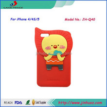 Lovely Cartoon Girl Silicone Back Cover Case for iPhone 4s/5s/6/6plus