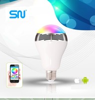 2016 hot sale 6w bluetooth led speaker bulb with android iOS app control