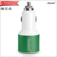 2015 New arrival high tech eletric 3 port usb car charger for quick charging phone