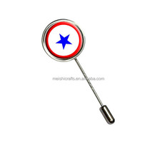 Blue Star Flag - One 1 War Mother Service - Stick Hat Brooch Pin