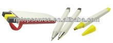 TE608 pencil ball pen highlighter combnation 3pcs set