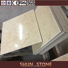 Popular Sunny Cream composite marble floor  Marble Laminated with Ceramic