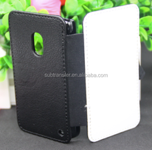 Wallet style leather case sublimation leather flip phone case for Nokia 620