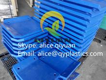 hdpe blue color fender panel marine fender face pad/sheet/panle/plate