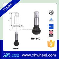 Small Zinc Alloy Tire Valve Stem Tubeless TR414C For Passenger Car / Trucks