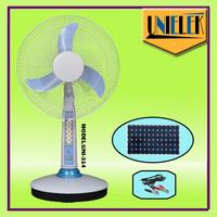Desktop solar dc fan with powered ventilation LED fan powered dc fan