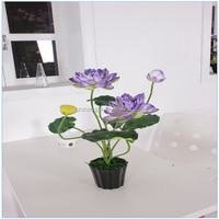Made in china indoor fake plant ,artificial lotus plant