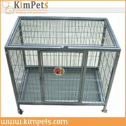 strong steel dog cage with wheels