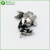 Retro style Fashion jewelry stainless steel fish pendant