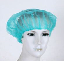 """28"""" PP non woven 12gsm Bouffant Caps round caps white blue green disposable"""