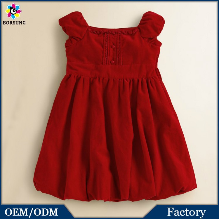 Frock Designs For Cutting Children Girls Formal Wedding Dresses Baby Girl Kids Ruffled Corduroy  ...