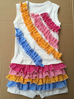 Yiwu Clothes Market Boutique Style Childrens Clothing Sets Ruffle Outfit Clothes
