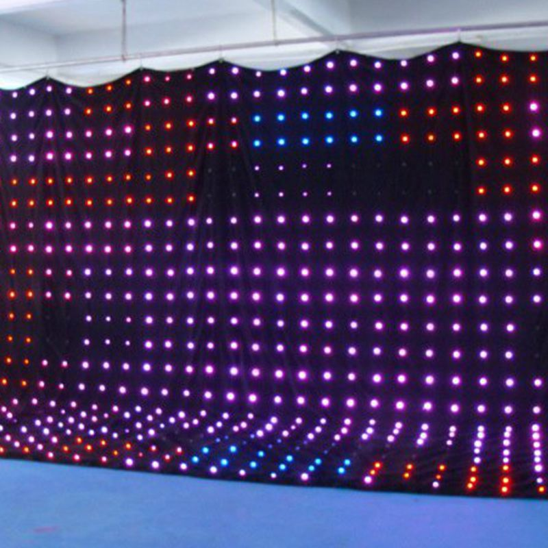2015 hot led video cloth led curtain backdrop fabric for Star material for curtains