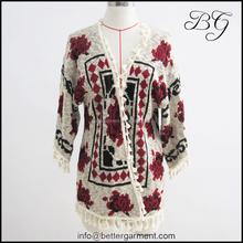 Wholesale colorful jacquard women knit sweater BG151155 ,fashion woolen sweater designs for ladies/women