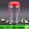 1300ml plastic tube container with handle, large food plastic containers, pet plastic jars for wheat manufacturer in China
