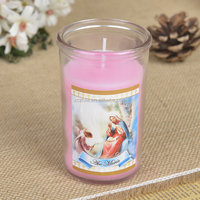 Wholesale Size6.3X10cm Small Glass Candle