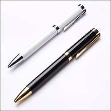 Low price personalised retractable fine metal ballpoint pen for promotional gift