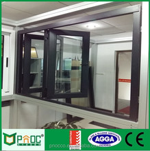 Australian standard Non thermal break /aluminium bi folding window/double glazed windows