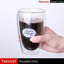 Original Designed Transparent Heatproof Double Wall Glass Cups for Coffee/Tea/Beer/Water