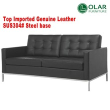 replica leather living room european style sofa florence knoll sofa