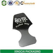 silver ring jewelry hang tag printed,china hang tag