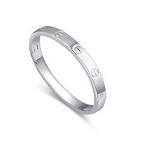 Wholesale Brand Famous Bangle Plated by 18K White Gold Plain Bangles