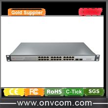24 ports poe (IEEE802.3af) 26 Port Gigabit Ethernet POE Switch with 24x10/100/1000M PoE Ports and 2 Gigabit SFP Uplink Fiber Por