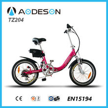 Shock price and good quality folding electric bike/bicycle, mini foldable ebike for kids TZ204 with lithium battery