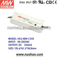 Meanwell 90w 350ma pwm dimmable led driver 350ma constant current led driver