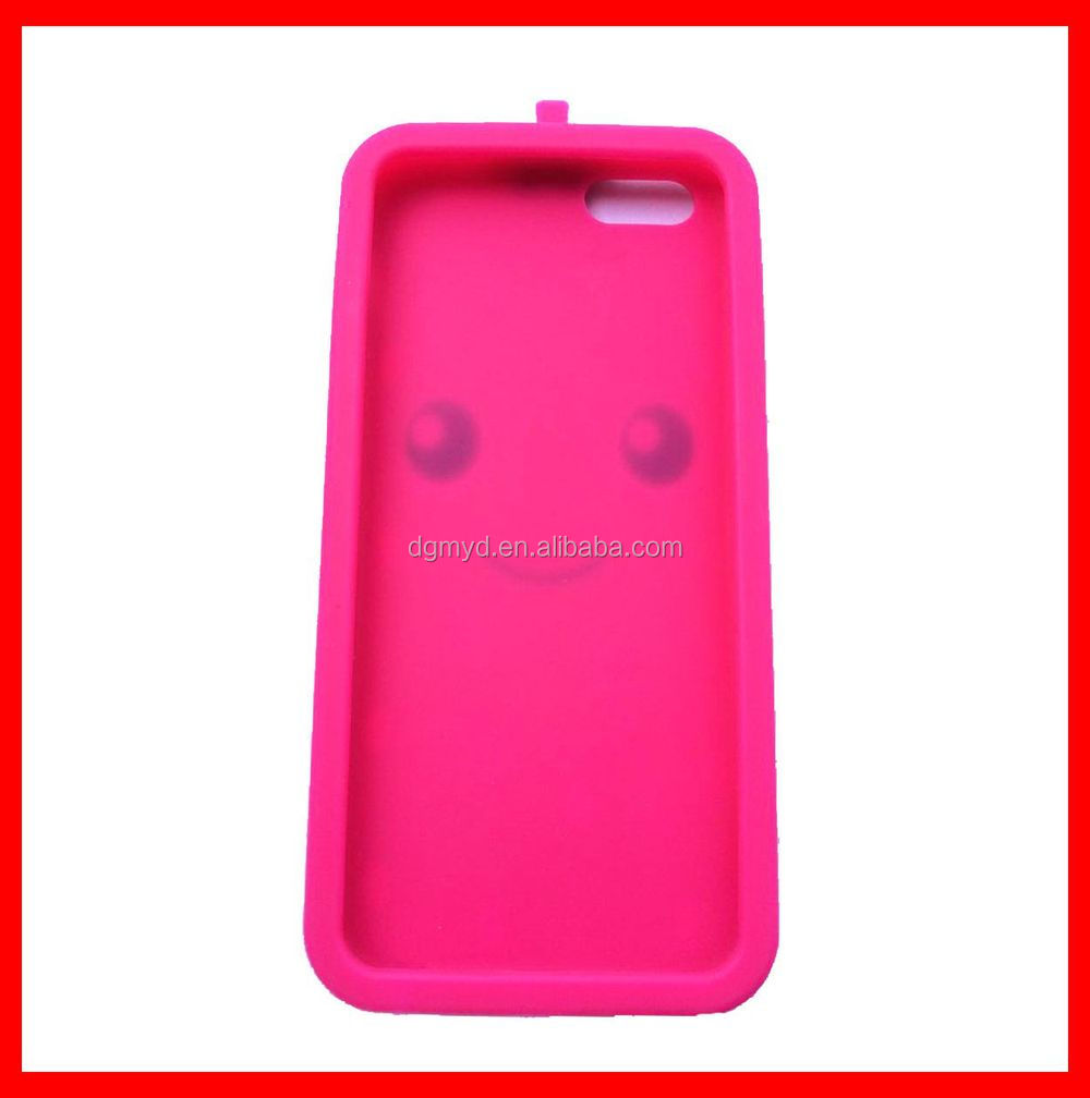 Amazing strawberry silicone cell phone case for iphone 6 case plus