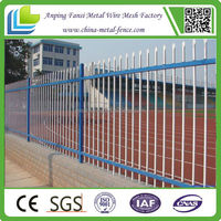 Galvanized & polyester powder coated outdoor steel matting fence and gate for sale/manufacture
