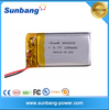 ultra small lipo battery 402025 3.7v 150mah polymer rechargeable lipo battery for mini mp3/bluetooth headset