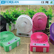 summer hot selling portable mutifunction rechargeable fan with led with battery