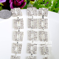 factory wholesale new gold chain design girls, crystal color square shape gold chain for decorations