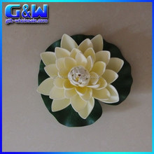 17cm Decorative lotus flowers artificial Ivory Floating lotus for Wedding Decor