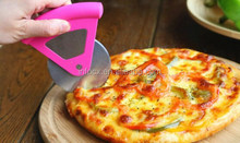High quality colored plastic handle stainless steel pizza wheel cutter