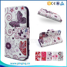 Colorful printing pu leather case flip cover for LG G Vista 2 for other mobile phone