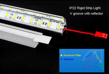 Factory Wholesale 100CM DC 12V 72leds SMD 5630 LED Hard Rigid LED Strip Bar Light,ww/w/cw color+ U Aluminium +Cover
