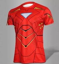 OEM digital printing factory wholesale short sleeve fashion superhero man t shirt